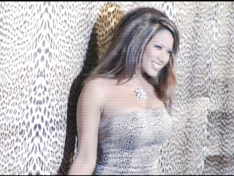 traci bingham at the unveiling of roberto cavalli's beverly hills location at roberto cavalli boutique in los angeles california on february 15 2005 - roberto cavalli stock videos and b-roll footage