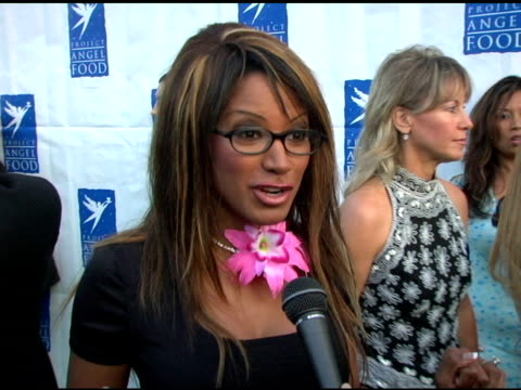traci bingham on project angel food at the 11th annual angel awards hosted by project angel food arrivals at project angel food in hollywood,... - traci bingham stock videos & royalty-free footage