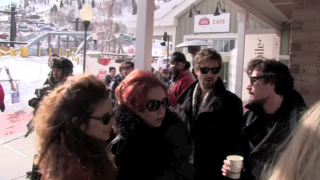 vidéos et rushes de traci lords at celebrity sightings in park city on 1/22/2012 in park city ut - traci lords