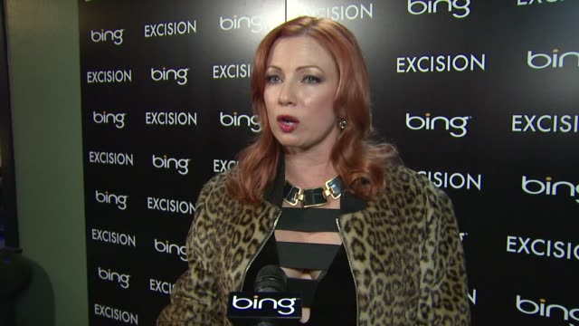 vidéos et rushes de traci lords on screening her film at sundance at bing bar sundance 2012 day 3 in park city utah on 1/21/2012 - traci lords