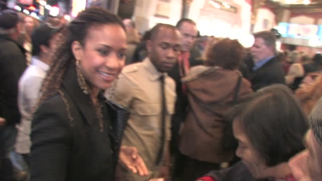 tracie thoms at pantages theater in hollywood at the celebrity sightings in los angeles at los angeles ca. - パンテージスシアター点の映像素材/bロール