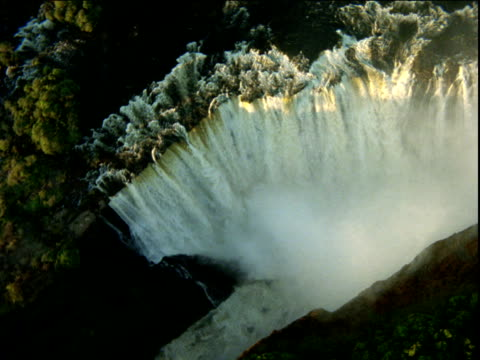 track above victoria falls, zimbabwe - victoria falls stock videos and b-roll footage