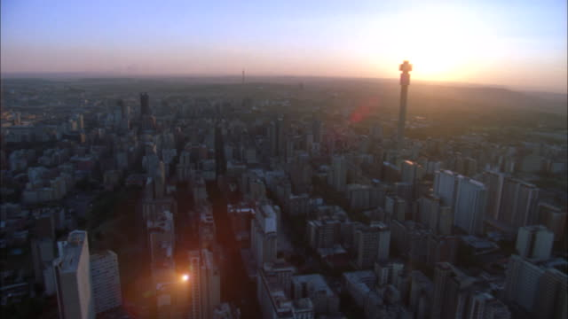 track across skyscrapers including hillbrow tower and ponte tower, johannesburg available in hd. - ponte stock videos & royalty-free footage