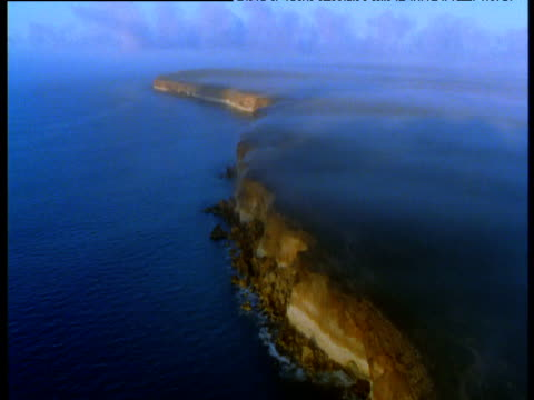 track along misty nullarbor cliffs and sea, shark bay, western australia - shark bay stock videos & royalty-free footage