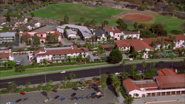 track along road in santa barbara available in hd. - santa barbara california stock videos and b-roll footage