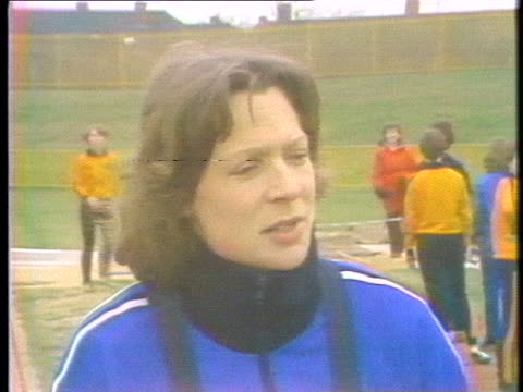track and field olympian sue reeves discusses the boycott of the moscow olympics. - sport stock videos & royalty-free footage