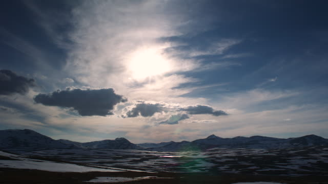 tl track as sun sets and rises over arctic horizon - 24 hrs stock videos and b-roll footage