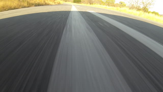 track forward along asphalt road. - asfalto video stock e b–roll