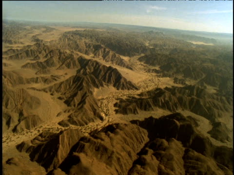 Track forward over mountains and course of ephemeral river, Namibia