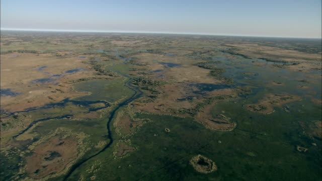 vídeos y material grabado en eventos de stock de track forward over the vast okavango delta stretching toward a distant horizon. available in hd. - delta de okavango