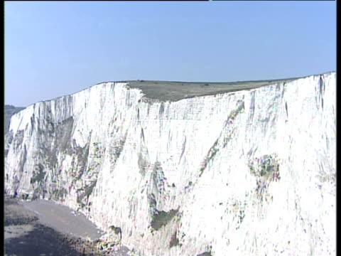 stockvideo's en b-roll-footage met track forward towards and over white cliffs of dover - lichaamsdeel van dieren
