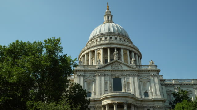 Track forward towards St Paul's Cathedral, City of London, UK.