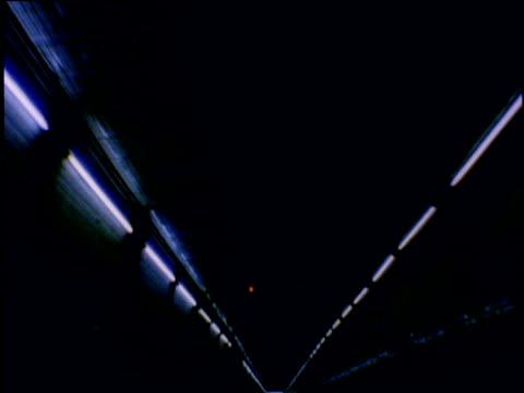 Track forwards through tunnel