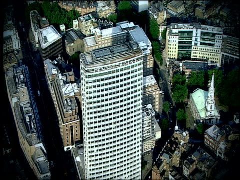 track left over centre point building london - 2001 stock videos and b-roll footage