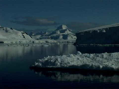 wa track left past icy coastline of paradise bay area, antarctic peninsula - antarctic peninsula stock videos & royalty-free footage