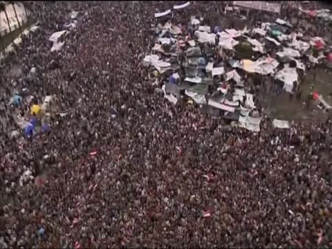 Track over an antigovernment protesters in Tahrir Square Cairo
