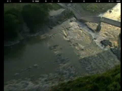 track over broken bridge following earthquake chi chi taiwan 23 september 1999 - taiwan stock videos & royalty-free footage