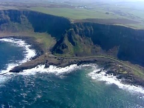 track over coast of northern ireland - northern ireland stock videos & royalty-free footage
