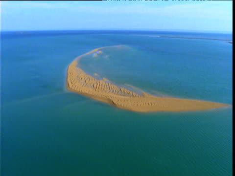 Track over exposed rippled sand bank, Buccaneer Archipelago, Western Australia