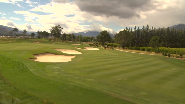 track over golf course, paarl, south africa available in hd. - paarl stock videos & royalty-free footage