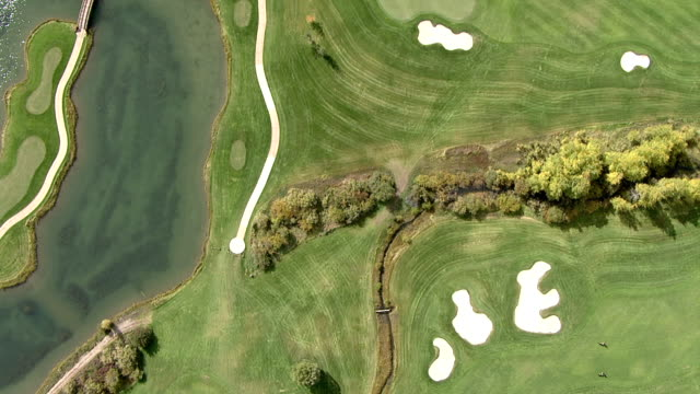 Track over golf course, Woods Hole, WY USA