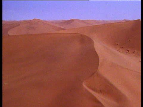 Track over huge sand dunes in Sahara desert, North Africa