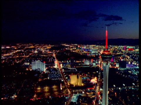 track over las vegas at night - casino stock videos & royalty-free footage