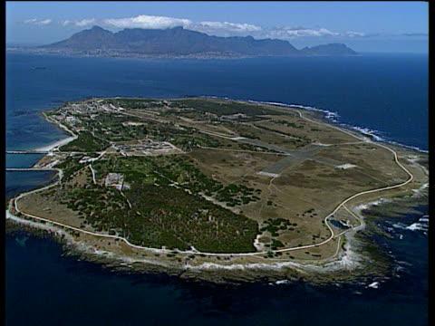 Track over prison island Robben Island