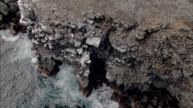 track over rocky coast, santa cruz, galapagos islands available in hd. - galapagos islands stock videos & royalty-free footage