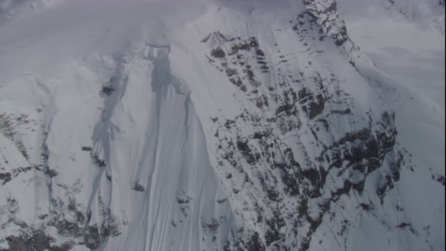 track over snow covered mountain, antarctica - bbc stock videos and b-roll footage