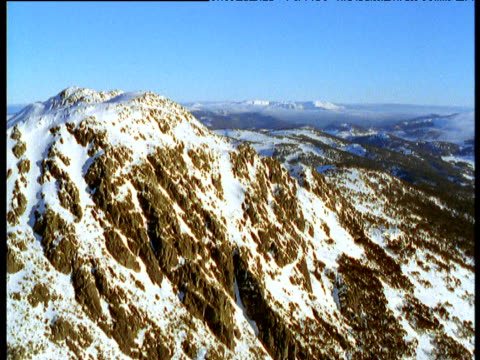 track over snow-capped australian alps, victoria, australia - australian alps stock videos & royalty-free footage