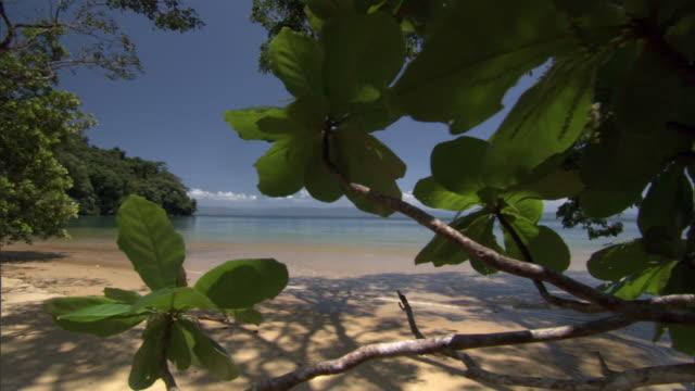 Track over tropical beach, Madagascar