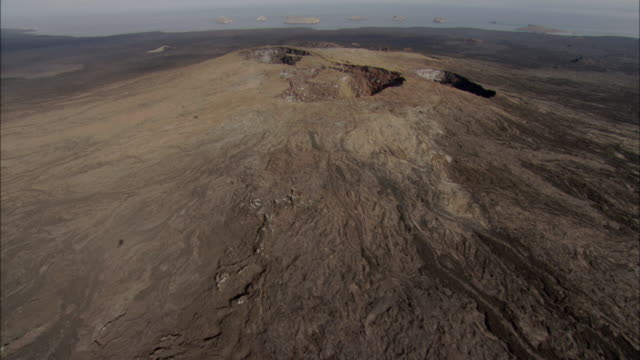Track over volcanic craters Available in HD.