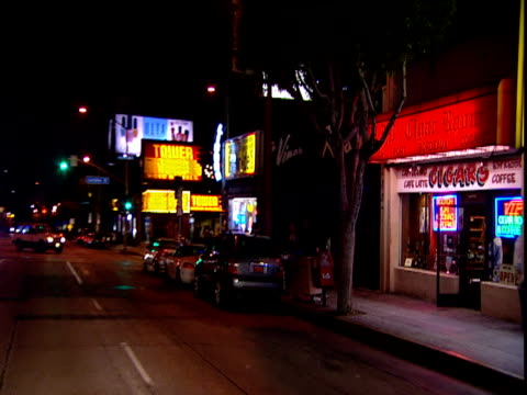 Track past The Viper Room nightclub Sunset Strip Los Angeles