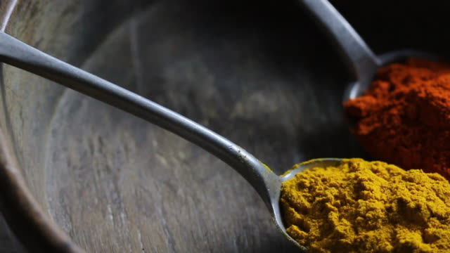 Track past Turmeric and Chilli Powder in spoons