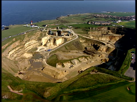 track right around marsden quarry south shields england - south shields stock videos & royalty-free footage