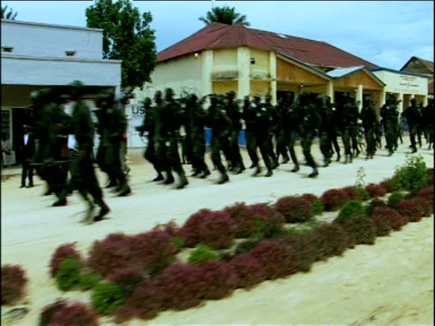 Track right past Congolese Army cadets in training eastern Dominican Republic of Congo