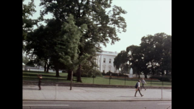 track right past the white house;1972 - washington dc stock videos & royalty-free footage