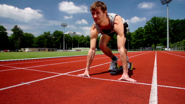 SLOW MOTION: Track Runner