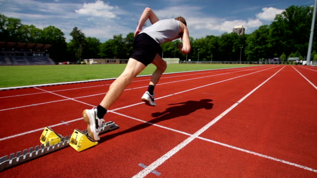 SLOW MOTION: Track Runner