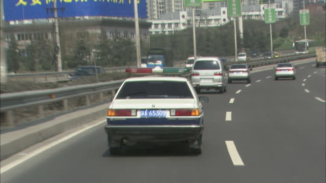 Track shot of Shanghai motorway