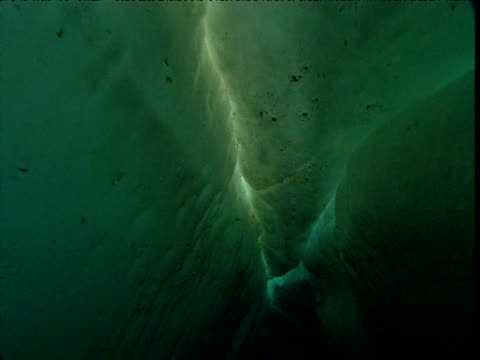 track through ice floe, arctic northwest territories - claustrophobia stock videos & royalty-free footage