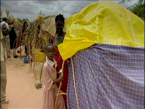 Track through Somali refugee camp Kenya