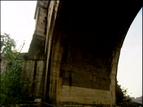 track under ponte saint angelo rome - ponte stock videos & royalty-free footage