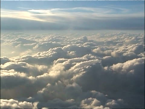 wa tracking left, aerial view of clouds from above, usa - heaven stock videos & royalty-free footage