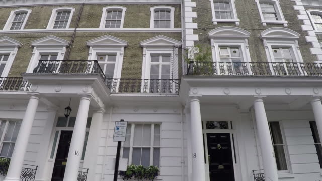 tracking past luxury london property. - flat stock videos & royalty-free footage