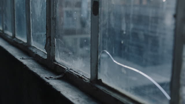 tracking shot along industrial windows - absence stock videos & royalty-free footage