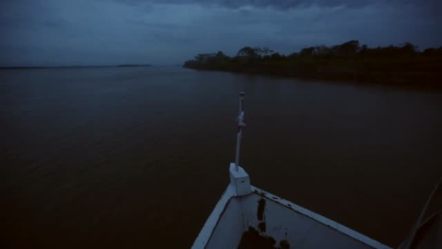 vídeos y material grabado en eventos de stock de tracking shot amazon river and rainforest view from riverboat a transport riverboat travels in the brazilian amazon from maues to manaus on november... - amazonas state brazil