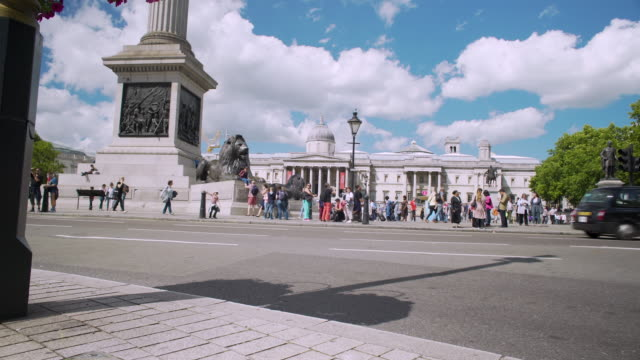 tracking shot around nelson's column. - nelson's column stock videos and b-roll footage