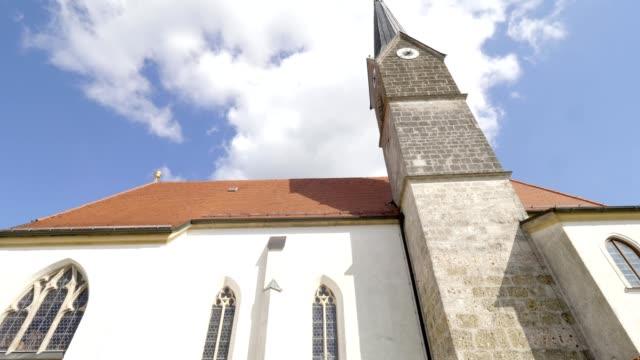 追跡ショット:バイエルンの教会 - ベルヒテスガーデナーランド点の映像素材/bロール